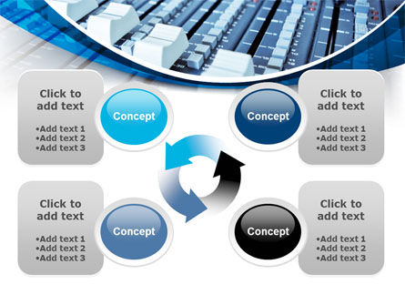 Audio Mixing Console PowerPoint Template Slide 9