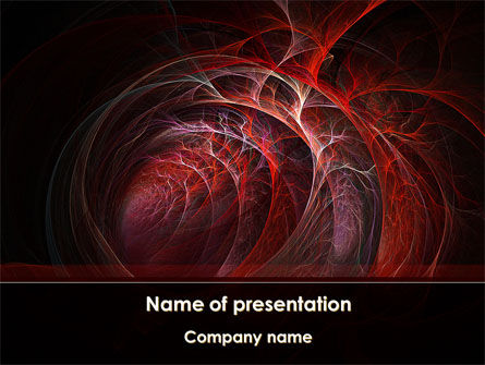 Abstract/Textures: Tube Walls PowerPoint Template #09139
