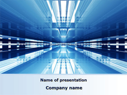 Abstract/Textures: Blue Movement PowerPoint Template #09141