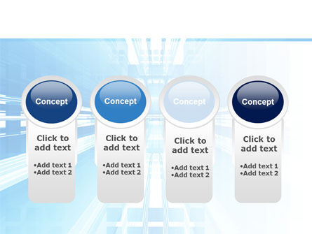 Blue Movement PowerPoint Template Slide 5