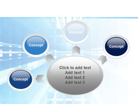 Blue Movement PowerPoint Template Slide 7