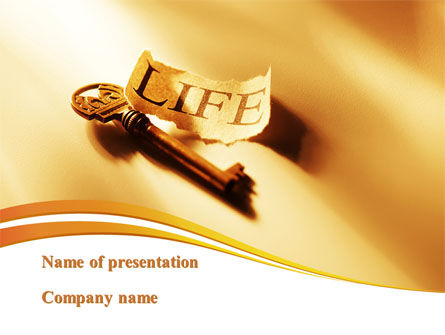 Health and Recreation: Key Of Life PowerPoint Template #09143