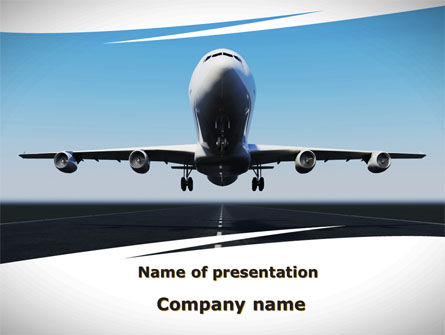 Air Plane PowerPoint Template, 09144, Cars and Transportation — PoweredTemplate.com