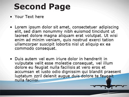 Air Plane PowerPoint Template, Slide 2, 09144, Cars and Transportation — PoweredTemplate.com