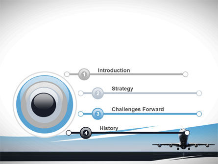 Air Plane PowerPoint Template, Slide 3, 09144, Cars and Transportation — PoweredTemplate.com