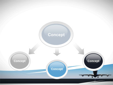Air Plane PowerPoint Template, Slide 4, 09144, Cars and Transportation — PoweredTemplate.com