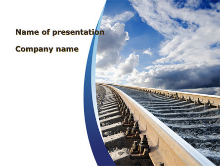 Cars and Transportation: Railway Track PowerPoint Template #09146
