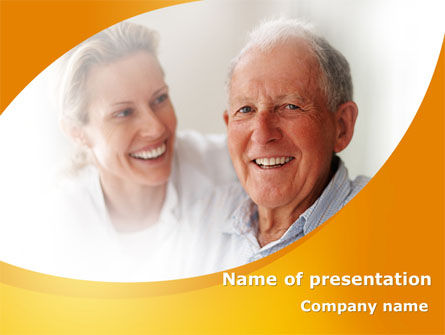 Aged Spouse PowerPoint Template, 09147, People — PoweredTemplate.com