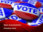 Politics and Government: Vote Badges PowerPoint Template #09149