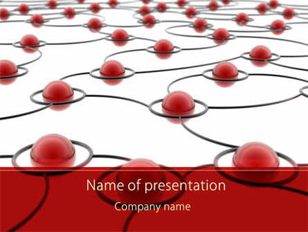 Nodes in the Network Community PowerPoint Template, 09150, Business Concepts — PoweredTemplate.com