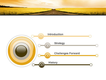 Road Into the Sunset PowerPoint Template Slide 3