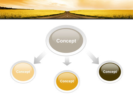Road Into the Sunset PowerPoint Template Slide 4