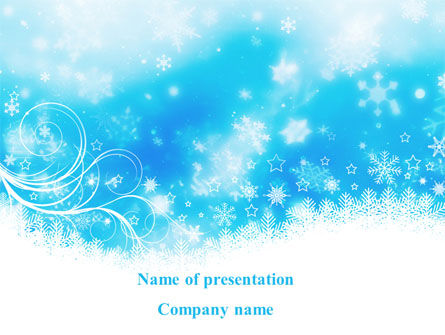 snowflakes swirl powerpoint template backgrounds 09152