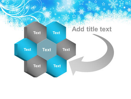 Snowflakes Swirl PowerPoint Template Slide 11