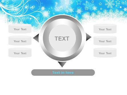 Snowflakes Swirl PowerPoint Template Slide 12