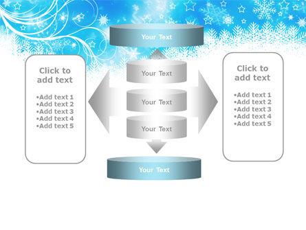 Snowflakes Swirl PowerPoint Template Slide 13
