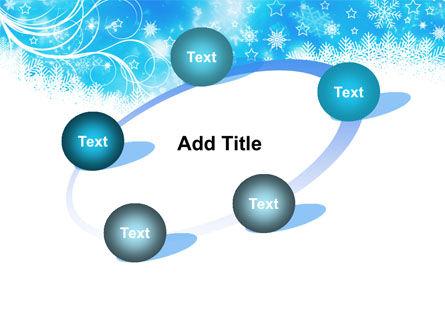 Snowflakes Swirl PowerPoint Template Slide 14