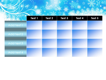 Snowflakes Swirl PowerPoint Template Slide 15