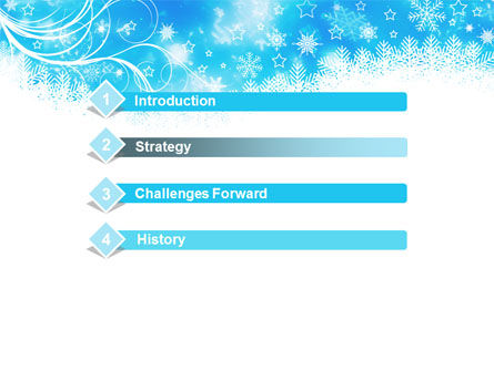 Snowflakes Swirl PowerPoint Template, Slide 3, 09152, Holiday/Special Occasion — PoweredTemplate.com