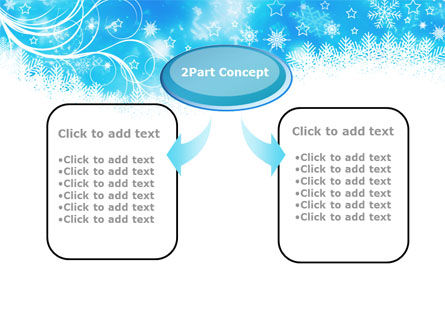 Snowflakes Swirl PowerPoint Template, Slide 4, 09152, Holiday/Special Occasion — PoweredTemplate.com