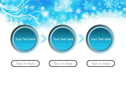 Snowflakes Swirl PowerPoint Template Slide 5