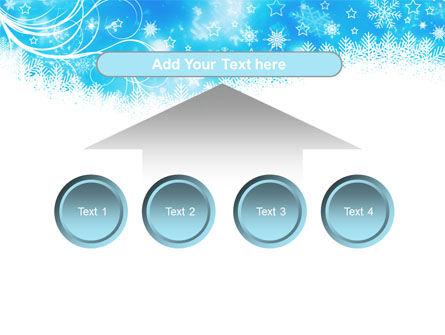 Snowflakes Swirl PowerPoint Template Slide 8