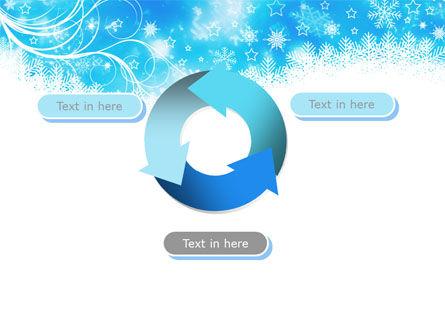 Snowflakes Swirl PowerPoint Template Slide 9