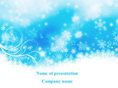 Holiday/Special Occasion: Snowflakes Swirl PowerPoint Template #09152