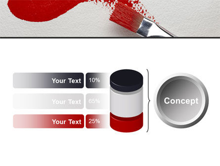Red Paint Brush PowerPoint Template Slide 11