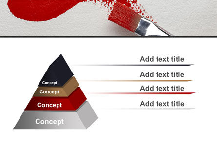 Red Paint Brush PowerPoint Template Slide 12