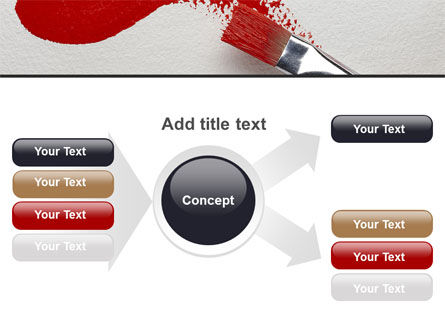 Red Paint Brush PowerPoint Template Slide 14