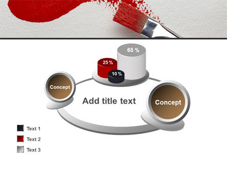 Red Paint Brush PowerPoint Template Slide 16