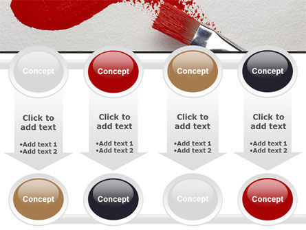 Red Paint Brush PowerPoint Template Slide 18