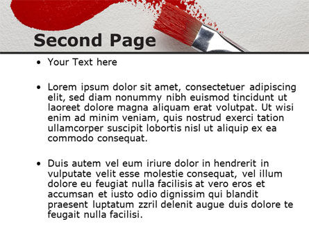 Red Paint Brush PowerPoint Template Slide 2
