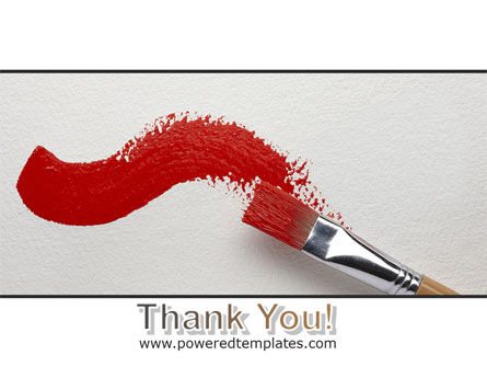 Red Paint Brush PowerPoint Template Slide 20