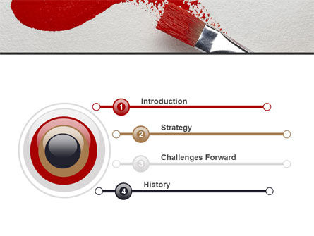 Red Paint Brush PowerPoint Template, Slide 3, 09153, Art & Entertainment — PoweredTemplate.com