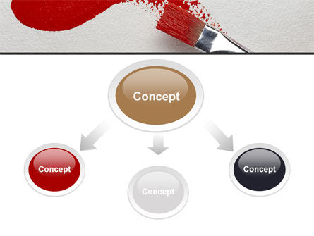 Red Paint Brush PowerPoint Template, Slide 4, 09153, Art & Entertainment — PoweredTemplate.com