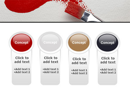 Red Paint Brush PowerPoint Template Slide 5