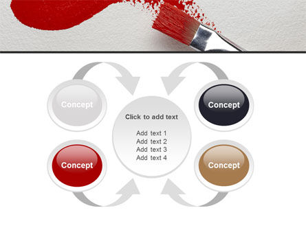 Red Paint Brush PowerPoint Template Slide 6