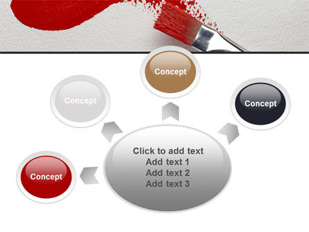 Red Paint Brush PowerPoint Template Slide 7