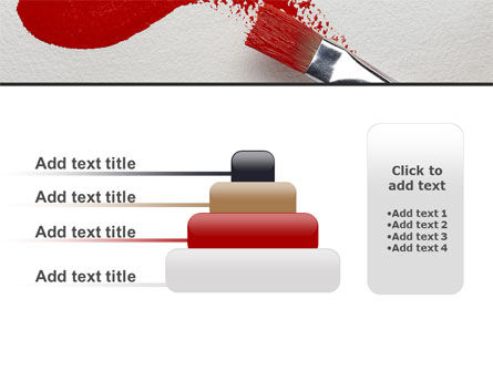 Red Paint Brush PowerPoint Template Slide 8