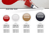 Red Paint Brush PowerPoint Template#13