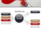 Red Paint Brush PowerPoint Template#14