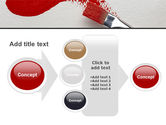Red Paint Brush PowerPoint Template#17
