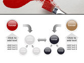 Red Paint Brush PowerPoint Template#19