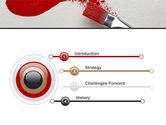 Red Paint Brush PowerPoint Template#3