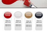 Red Paint Brush PowerPoint Template#5