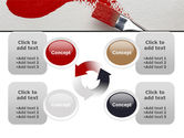 Red Paint Brush PowerPoint Template#9