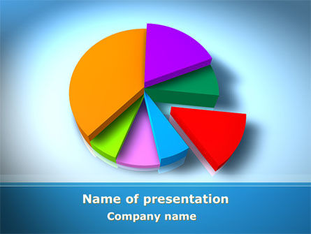 Pie Diagram On The Blue Background PowerPoint Template