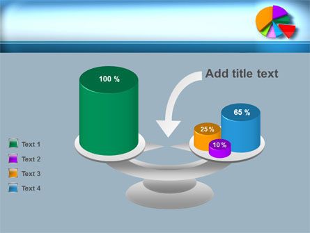Pie Diagram On The Blue Background PowerPoint Template Slide 10